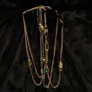 ⭐️NWOT! Gold Jeweled Necklace